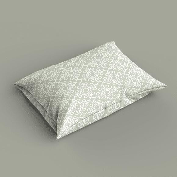 grayish yellow ornament seamless pattern. Pillow cover.