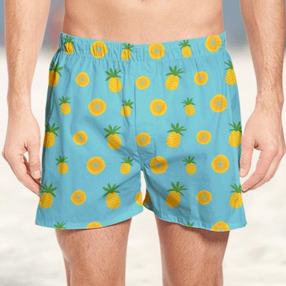 Seamless Pineapple Fruit Boxer
