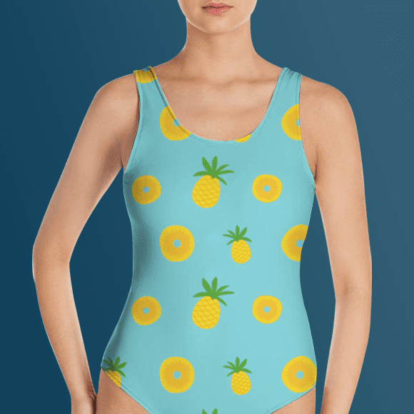 Seamless Pineapple Fruit Bikini