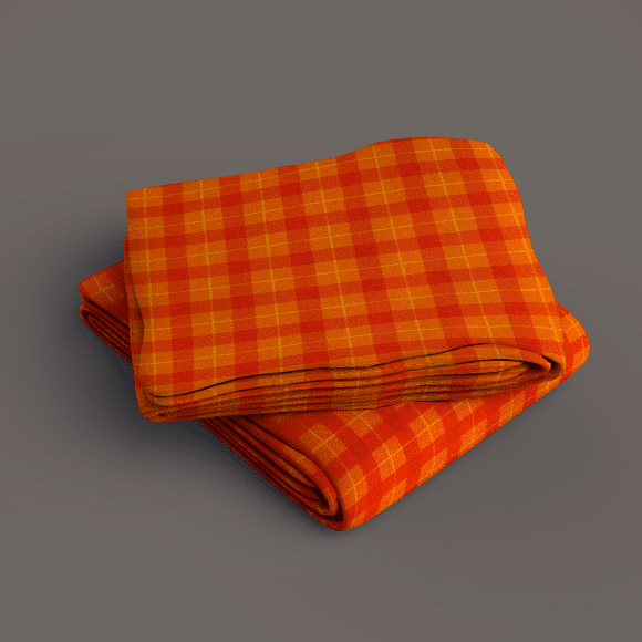 Orange and Bright Red Plaid Print, 800X800 Pattern Size.