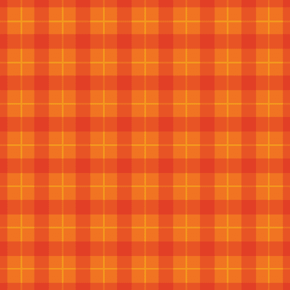 Orange and Bright Red Plaid Seamless Pattern, Eps file format.
