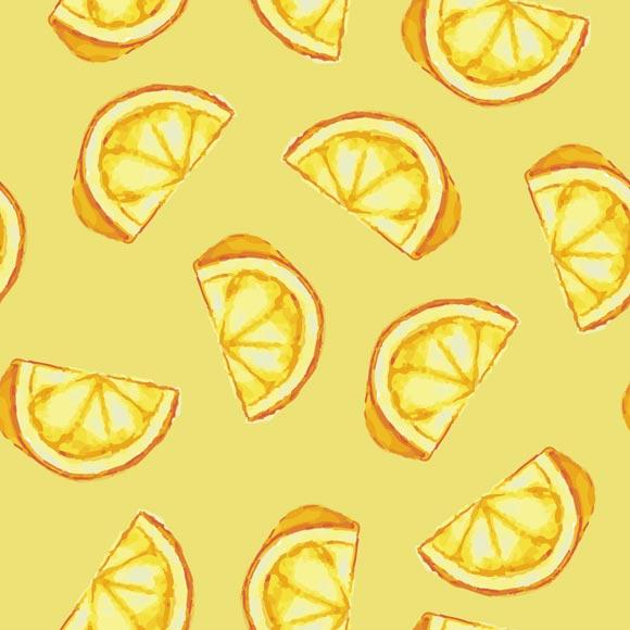sliced lemon fruit printed on yellow background
