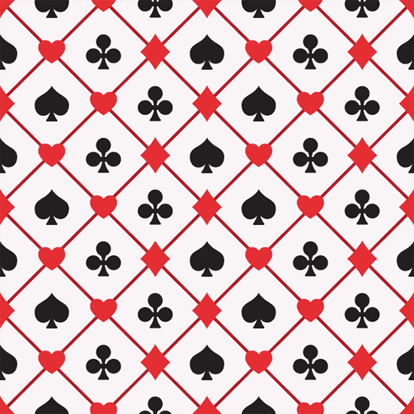Seamless Playing Card Suits Pattern