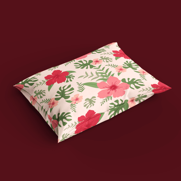 Pink and Red Asiatic Lilies Flower Pillow Cover
