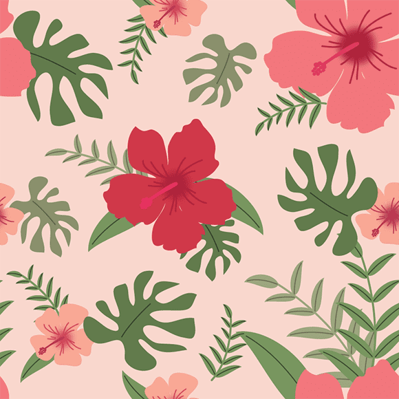 Pink and Red Asiatic Lilies Flower Pattern