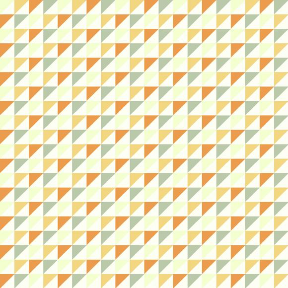 Colorful triangular pyramid seamless pattern