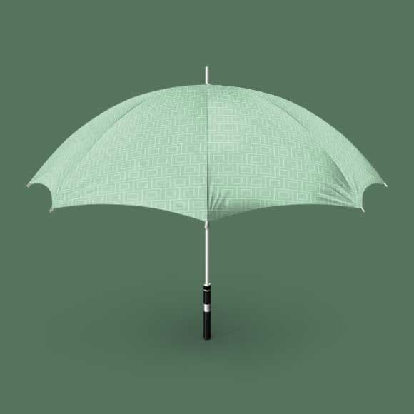 Umbrella with square print