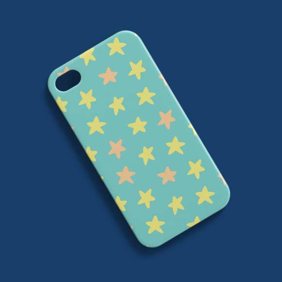 Star printed phone case