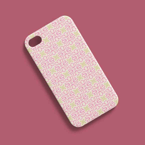 Pink Abstract Phone Case