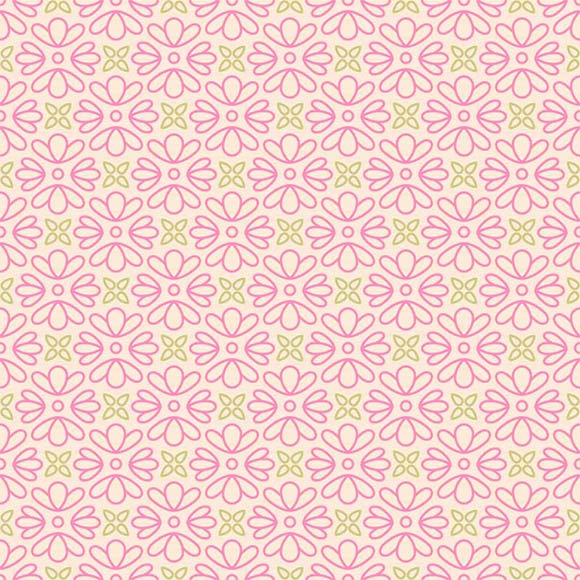 Pink Abstract Flowers Patterns