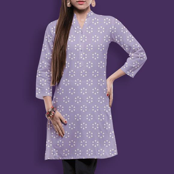Subtle Pattern with Violet Background Ladies Skirt