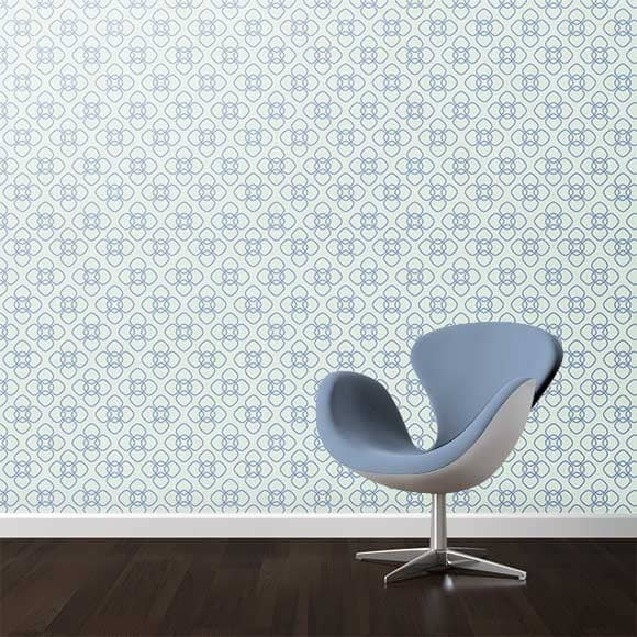 Wall texture with rounded square print