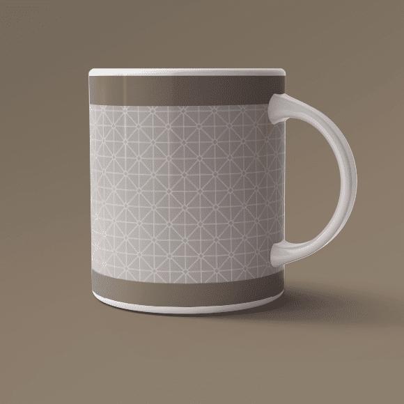 Modern Geometric Pattern, 800x800 Size, Coffee Mug