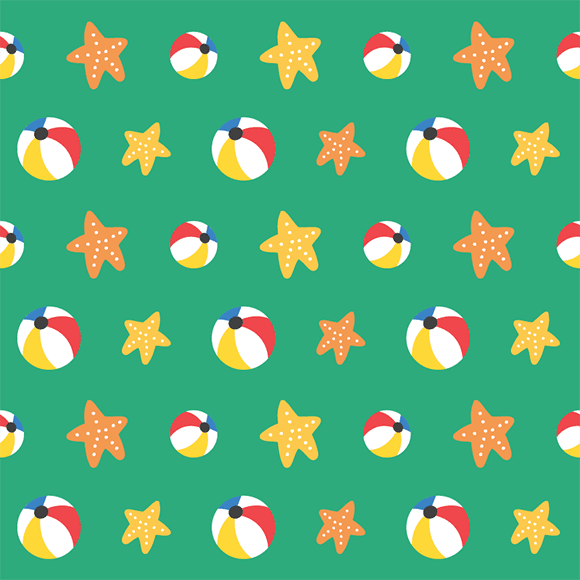 Stat Fishs and Water Balls Pattern
