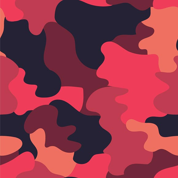 Tan red, maroon, black and brown camouflage seamless vector pattern