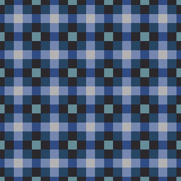 Dark Moderate Blue Tartan Plaid Pattern