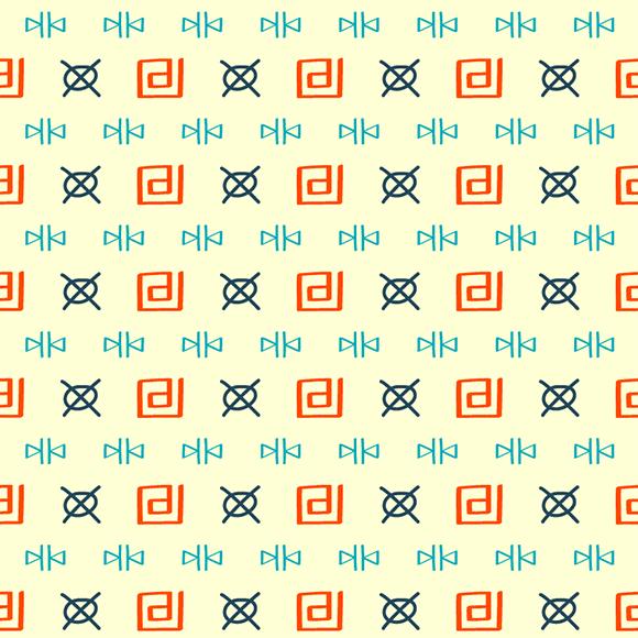 Tribal Doodle Vector Pattern