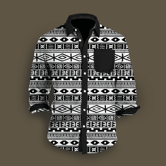 Black and White Tribal African Seamless Background Shirt