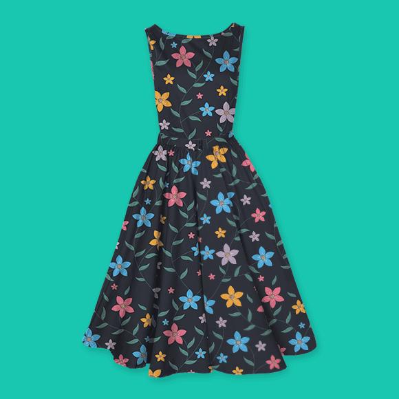 Multicolour Tropical Flower Dress