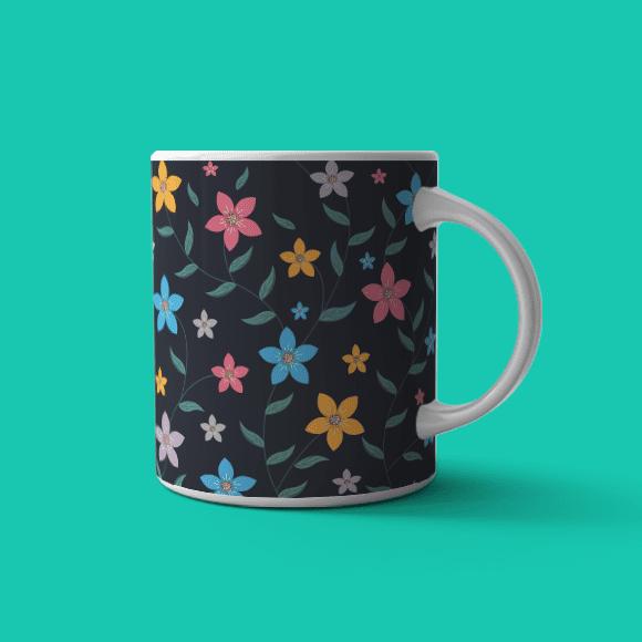 Multicolour Tropical Flower Coffee Mug