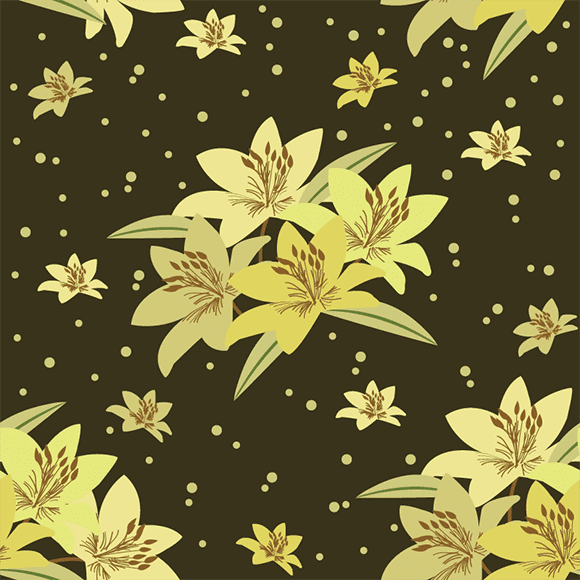 Yellow hibiscus flower vector pattern