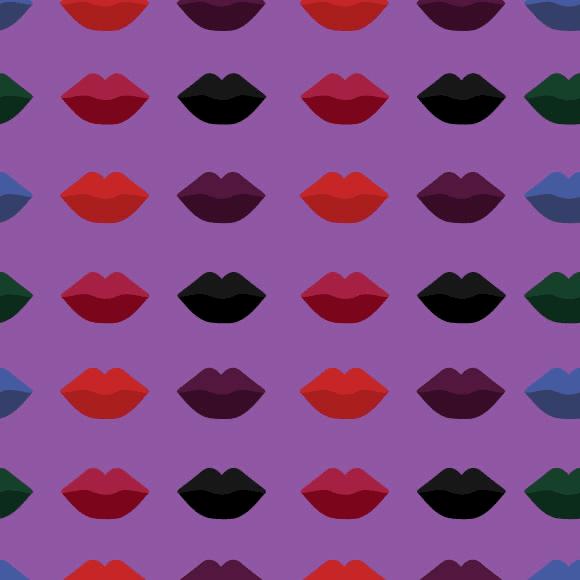 Artistic Lip Mark Pattern