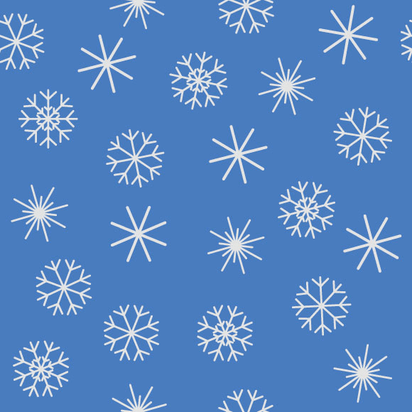 Snowflakes icons and seamless vector pattern. Winter season background
