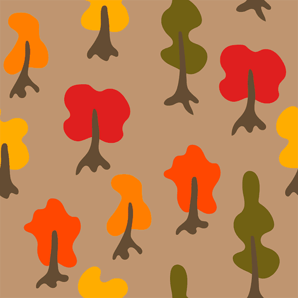 cartoon tress vector pattern