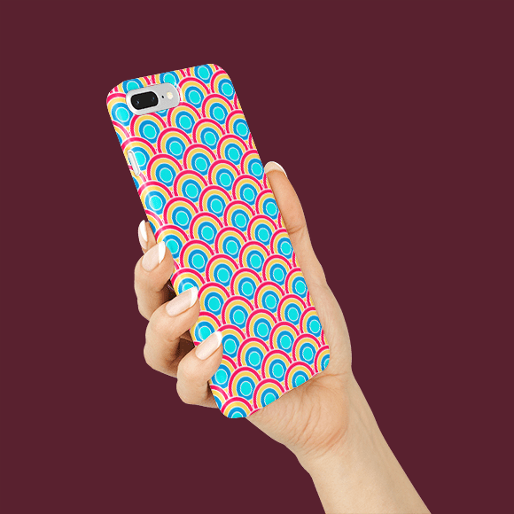 Vibrant Colours Geometric Design Phone Cover