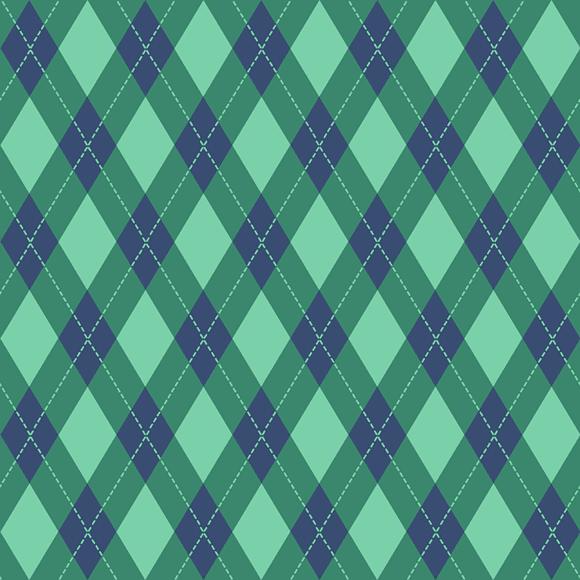 lemon green vintage argyle pattern