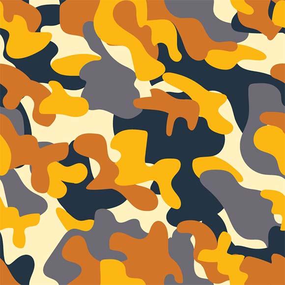 Yellow camouflage vector illustration pattern