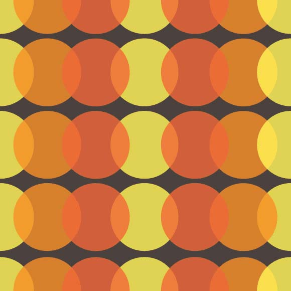 Yellow & orange abstract overlapping circles