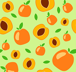 Apricot Fruit Pattern
