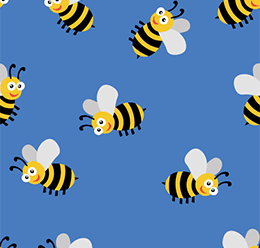 Bees Vector Pattern