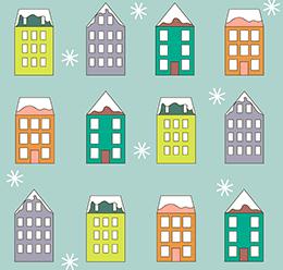 Winter Buildings Pattern