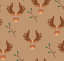 Cartoon Reindeer Pattern