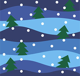 Trees And Snow Pattern