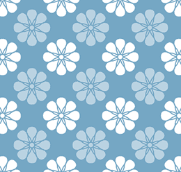 Circular Shape Flower Pattern