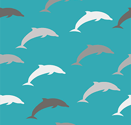 Dolphins Vector Pattern