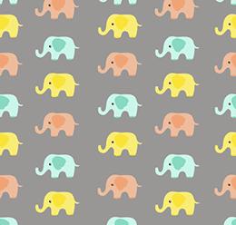 Elephants Vector Pattern