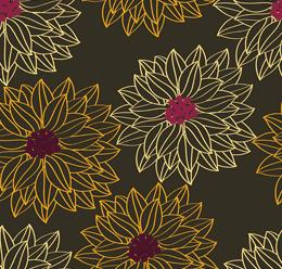 Floral Pattern Outline