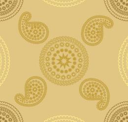 Gold Block Print