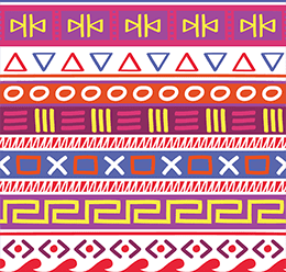 Multicolor Tribal Pattern