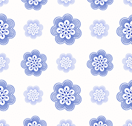 Ornament Pattern Blue
