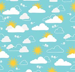 Summer Pattern: Clouds and Sun
