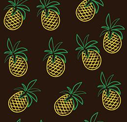 Pineapple Line Pattern