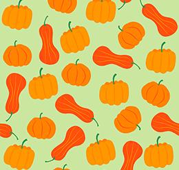 Pumpkins Vector Pattern