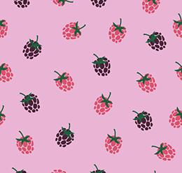Raspberry Fruit Pattern