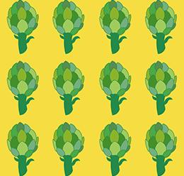 Seamless Artichoke Pattern