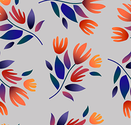 Botanical Flowers Pattern